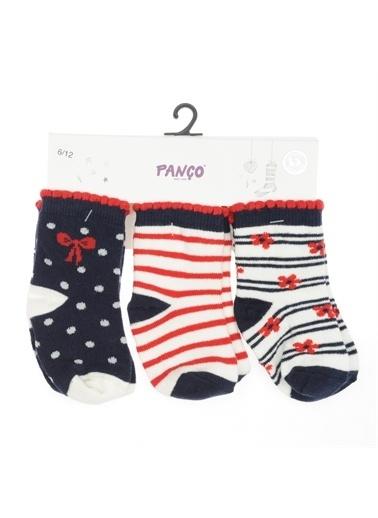 Panço Kız Bebek 3 lü Çorap 1813621108 Renksiz